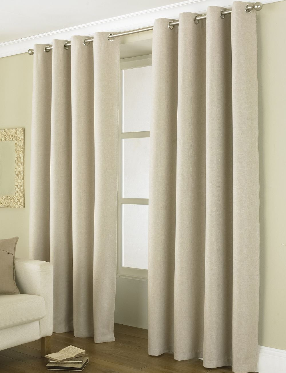 linea luxury 72 90 long blackout energy saver ring top eyelet curtain pairs ebay. Black Bedroom Furniture Sets. Home Design Ideas