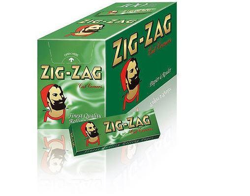 100 zig zag green cigarette rolling papers box booklets ebay. Black Bedroom Furniture Sets. Home Design Ideas