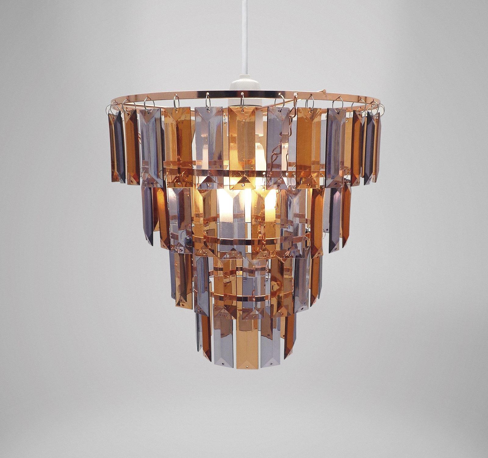 Easy Fit Universal Gem Crystal Light Decoration Ceiling Lamp ...