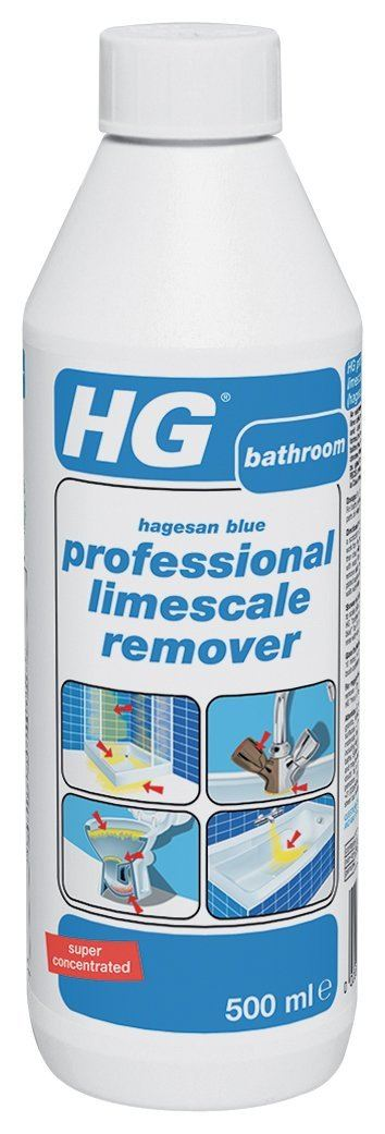 Hg hagesan blue 500ml professional limescale remover ebay for Sanivac concentrate bathroom cleaner and lime remover