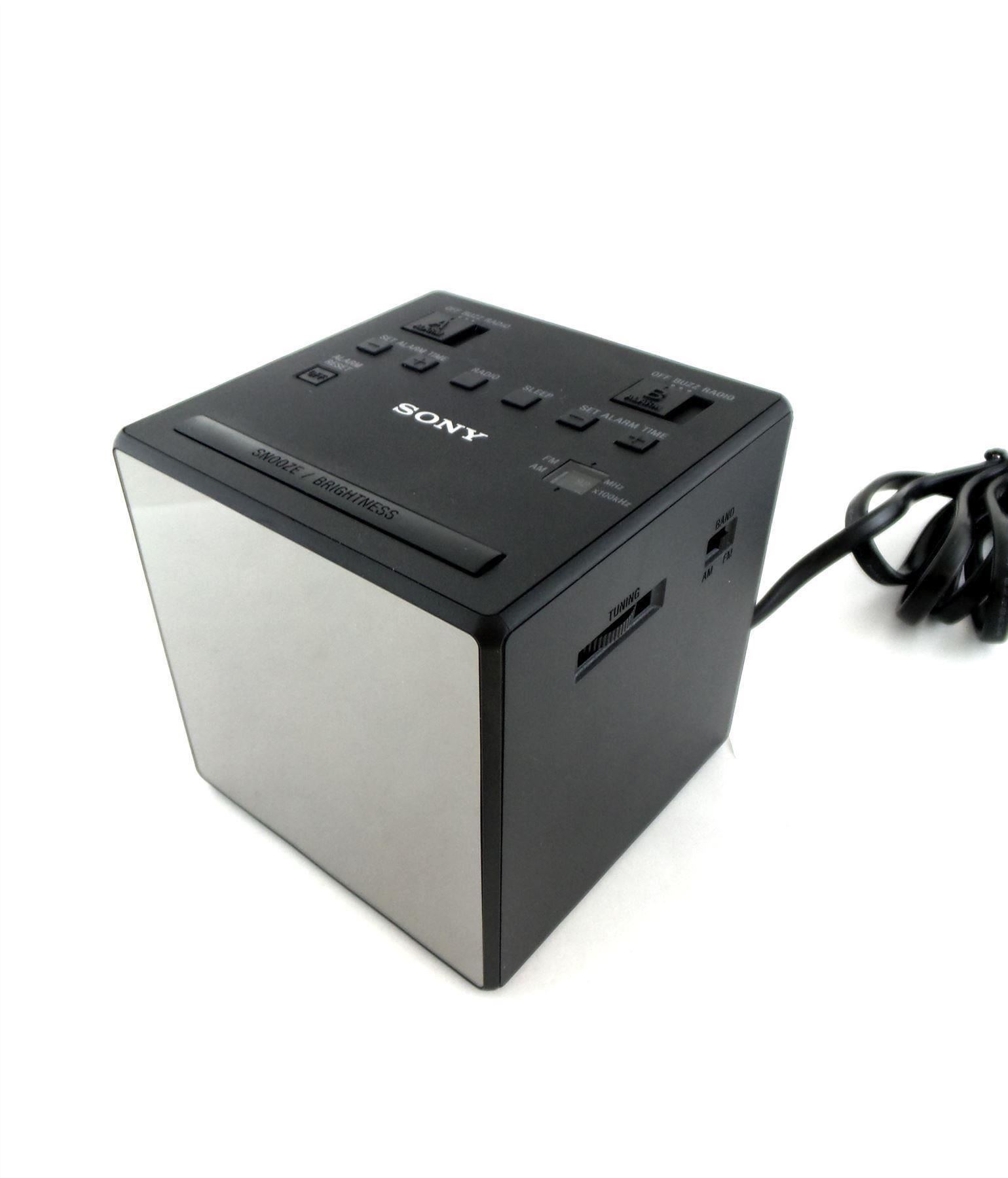 sony icf c1t alarm clock radio fm am dual alarm dst black ebay. Black Bedroom Furniture Sets. Home Design Ideas