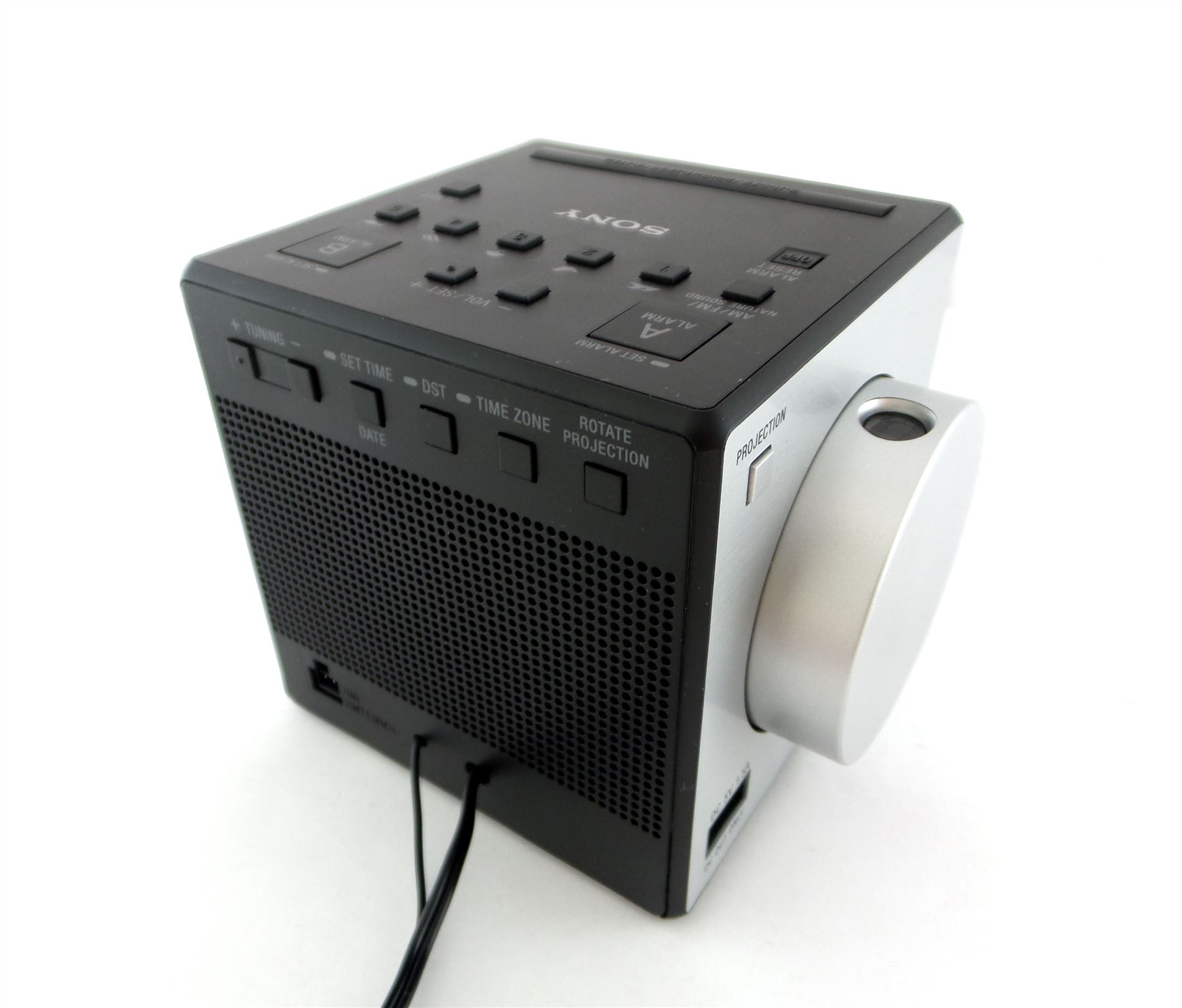 sony icf c1pj dual alarm clock radio w nature sounds dts am fm projector ebay. Black Bedroom Furniture Sets. Home Design Ideas