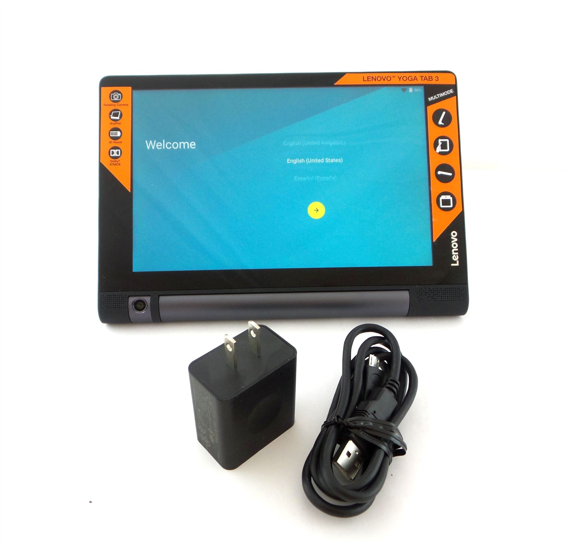 lenovo yoga tab 3 8 tablet 16gb wifi 8mp android black za090008us ebay. Black Bedroom Furniture Sets. Home Design Ideas