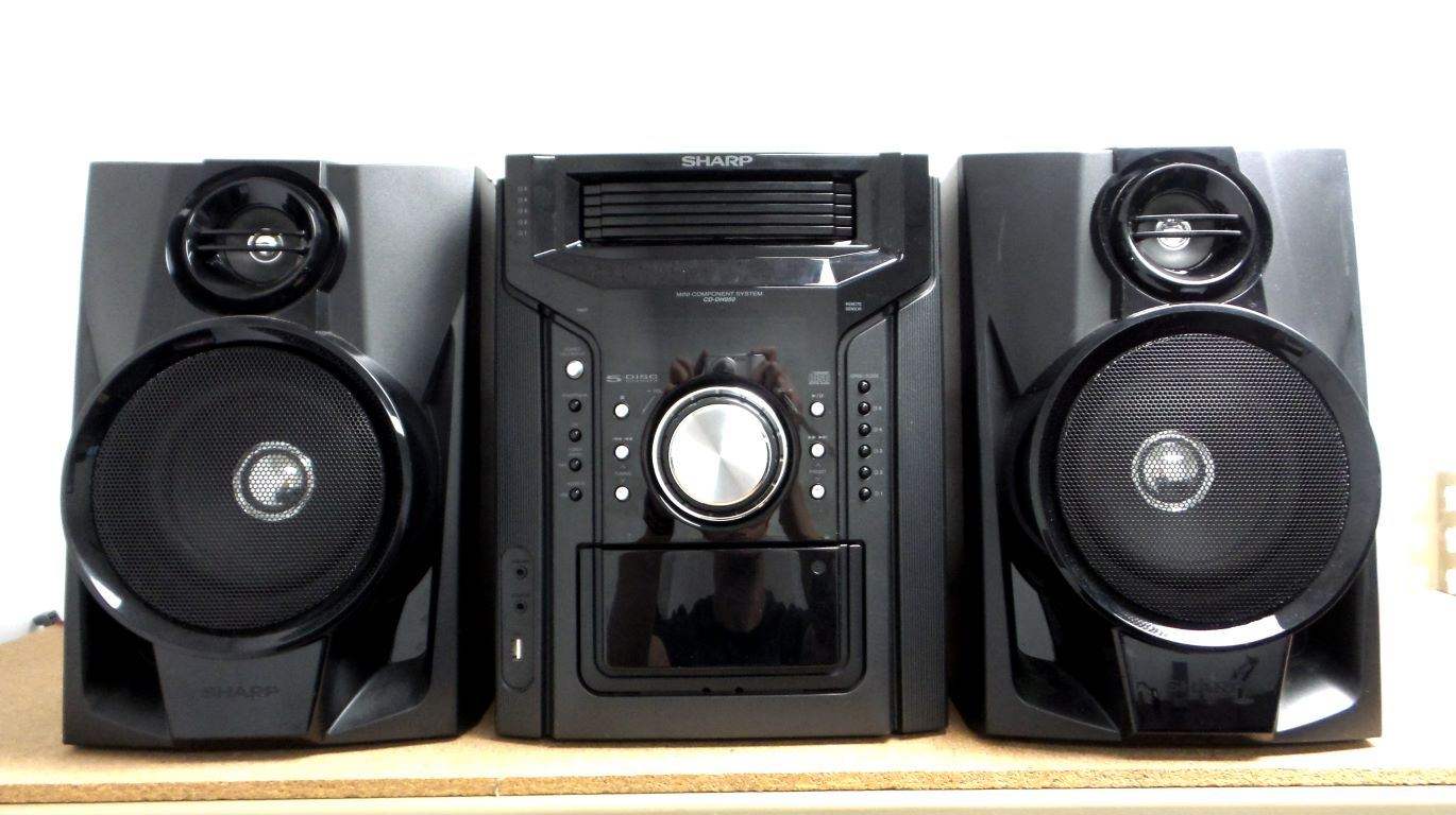 Sharp Cd Dh950p 240w 5 Disc Home Theater System Black