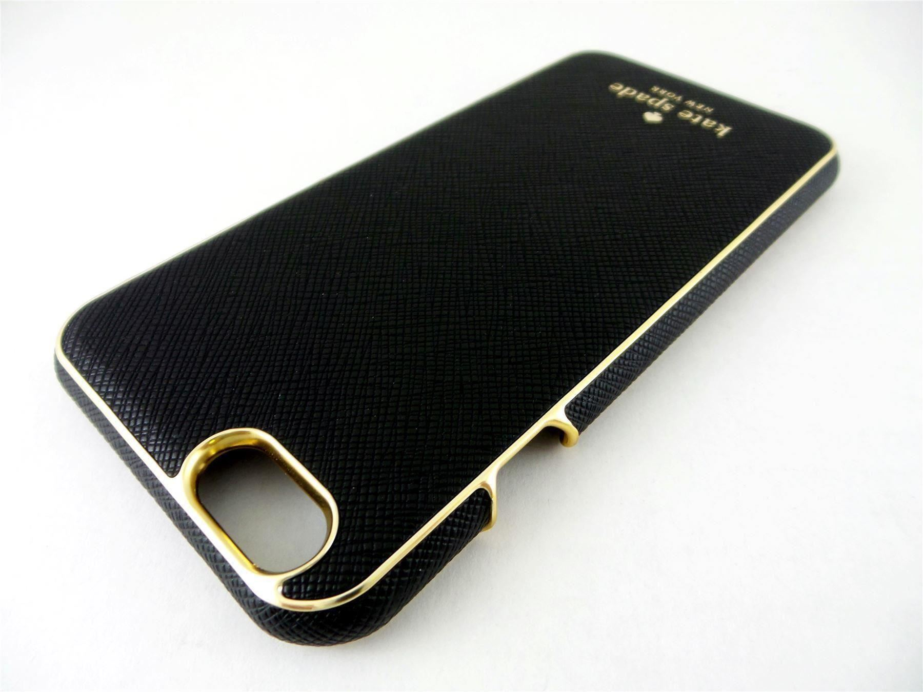 kate spade wrap case for apple iphone 6 6s black gold ksiph 032 blk v ebay. Black Bedroom Furniture Sets. Home Design Ideas