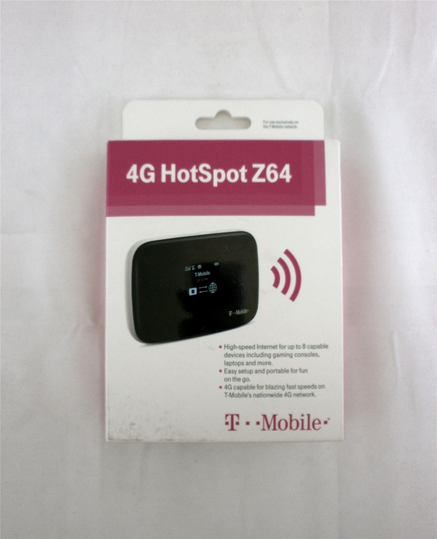 T-Mobile 4G HotSpot ZTE MF64 High-Speed WiFi Internet Up ...
