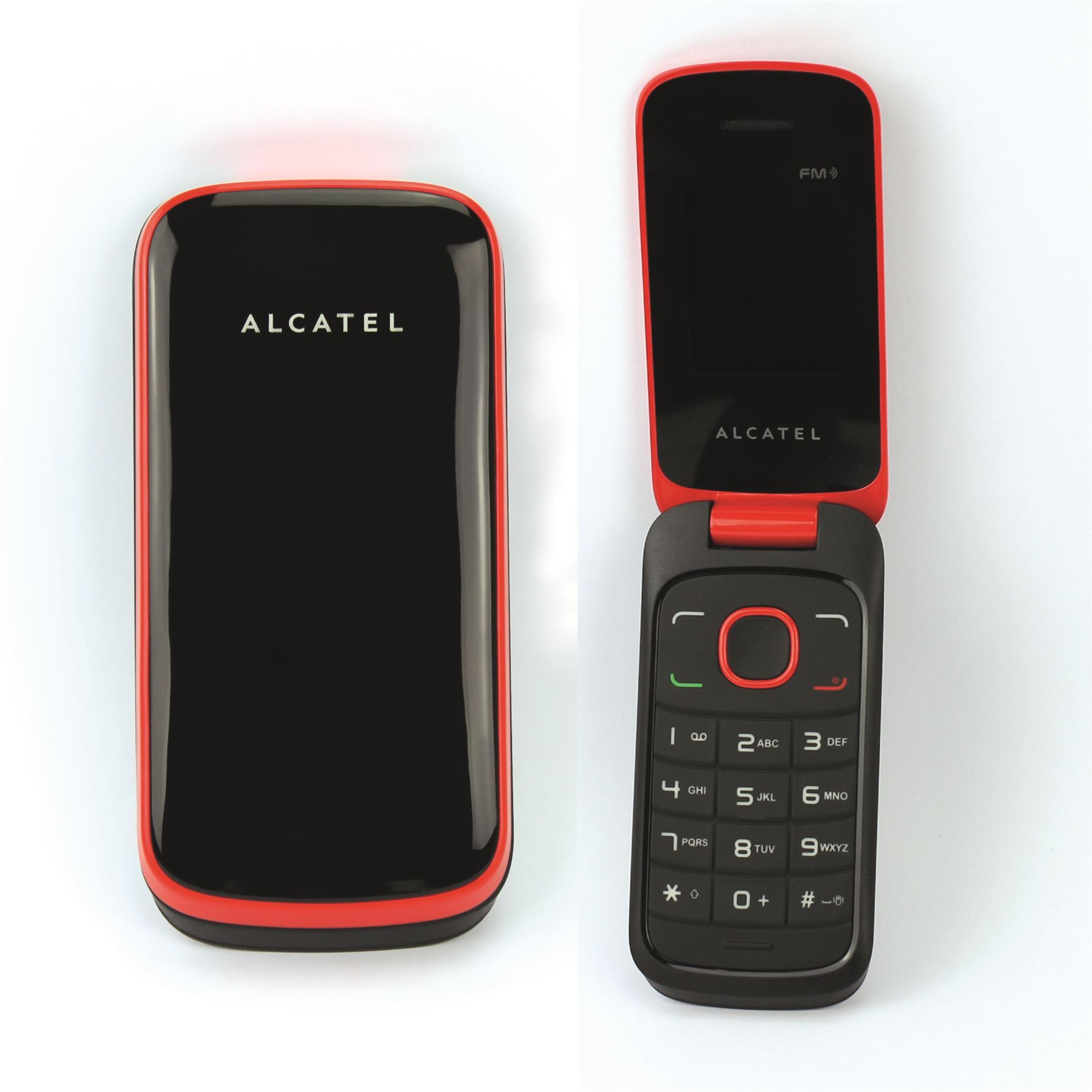 brand new alcatel one touch 1030x cheap unlocked 2g flip mobile phone red ebay. Black Bedroom Furniture Sets. Home Design Ideas