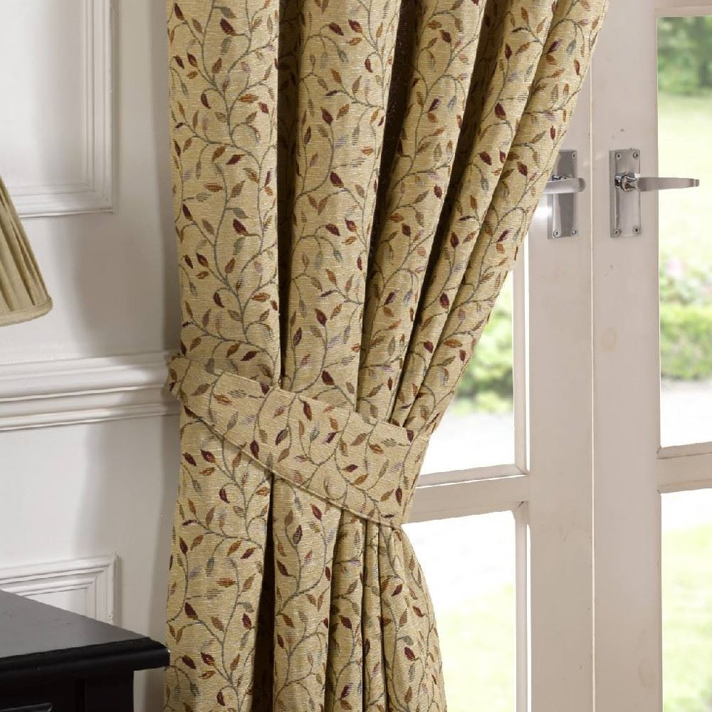 Harrogate Woven Tapestry Floral 3 Pencil Pleat Lined
