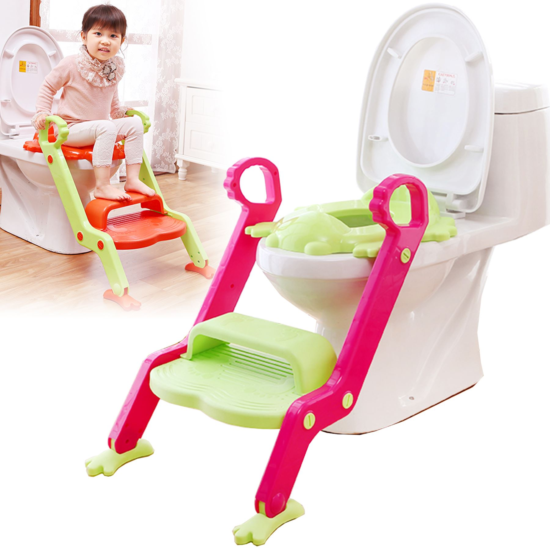 Baby Toddler Toilet Training potty Seat 2 step Ladder