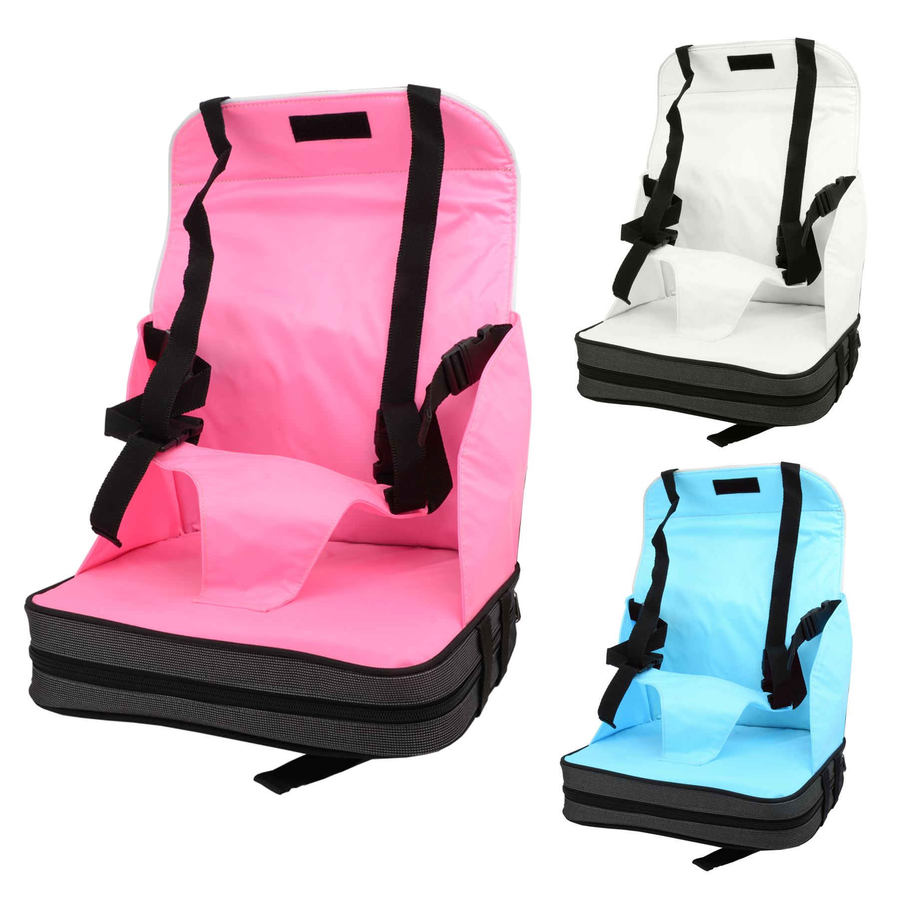 babyhugs portable baby toddler foldable dining chair on the go booster seat ebay. Black Bedroom Furniture Sets. Home Design Ideas