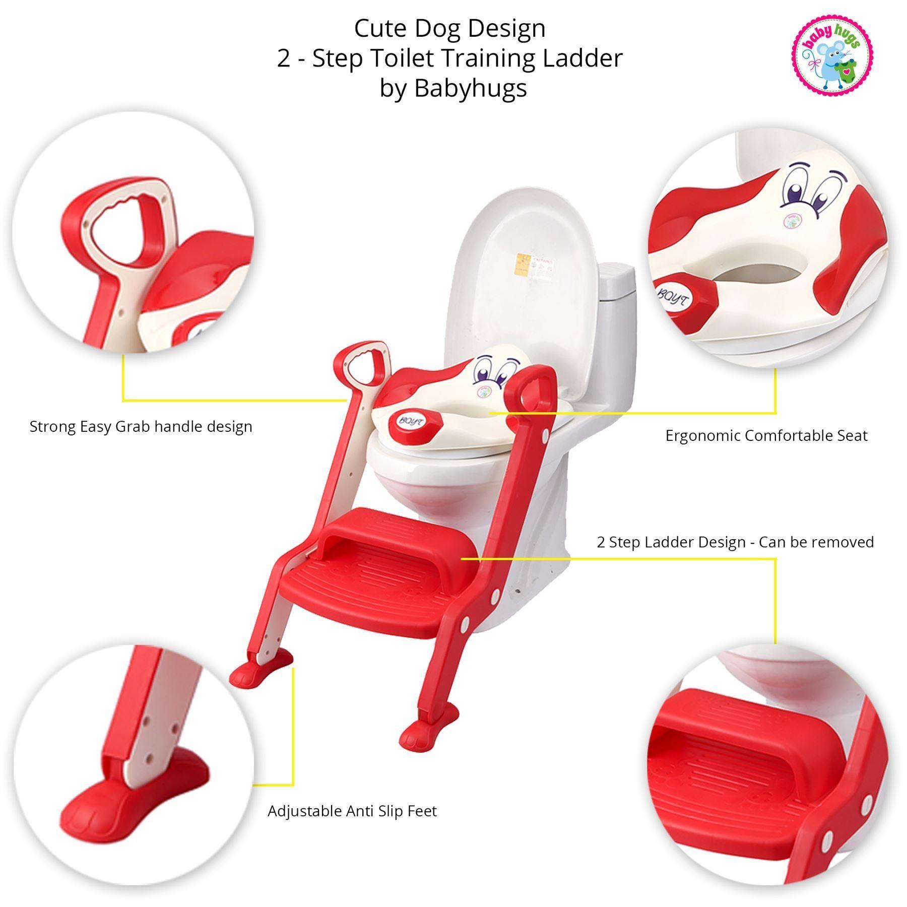baby toddler toilet training potty seat 2 step ladder toilet trainer for child. Black Bedroom Furniture Sets. Home Design Ideas