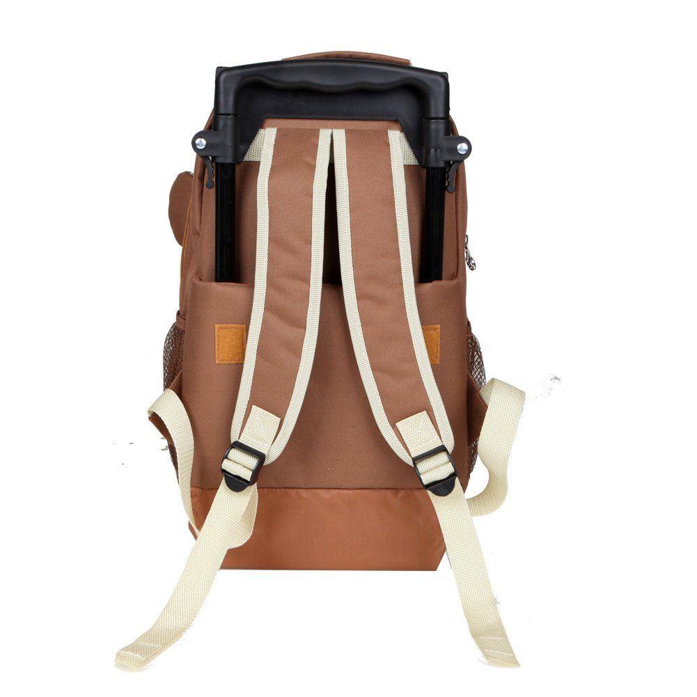 babyhugs kids animal trolley cabin luggage backpack rucksack school wheels bag. Black Bedroom Furniture Sets. Home Design Ideas