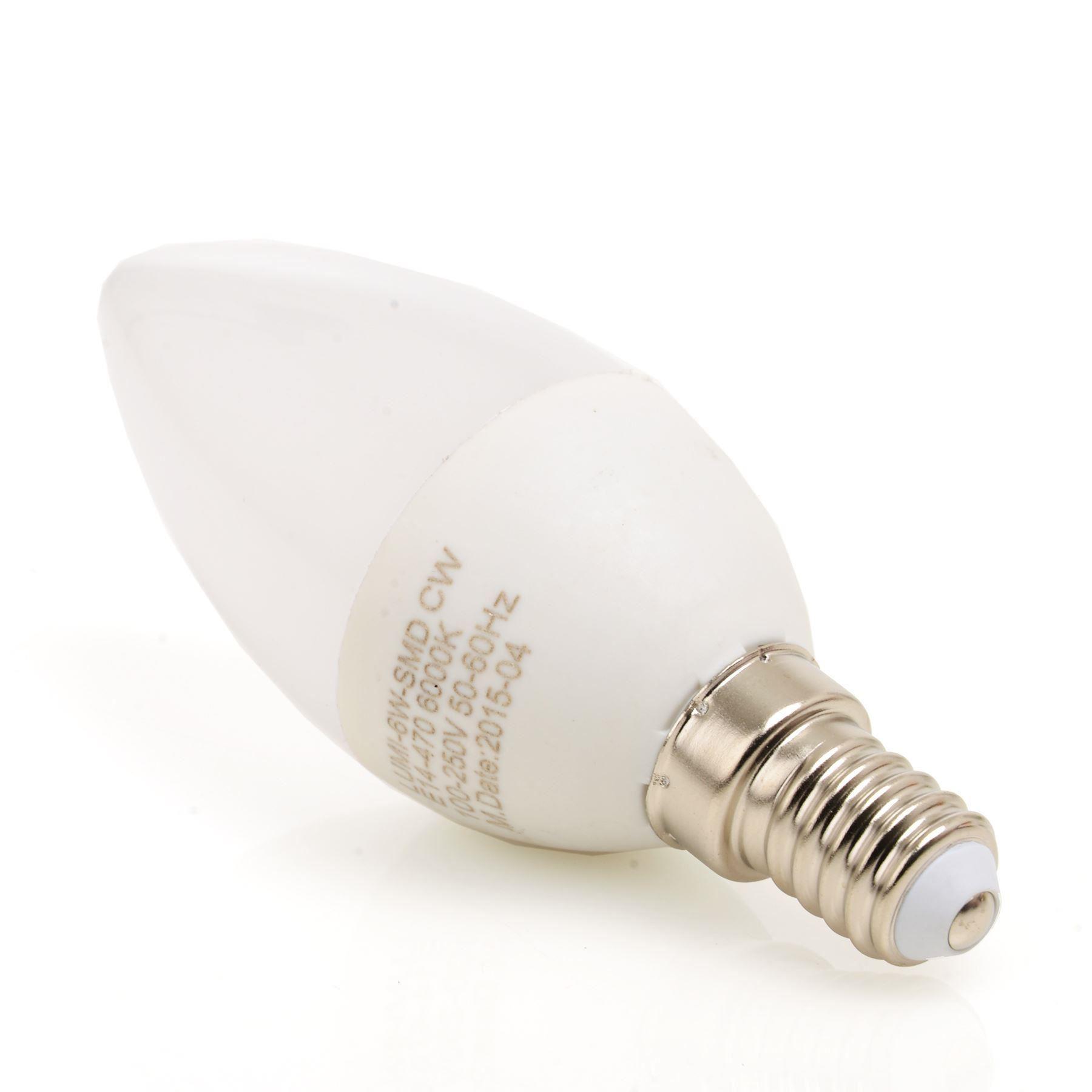 6w led e14 ses c37 candle light bulbs energy saving. Black Bedroom Furniture Sets. Home Design Ideas