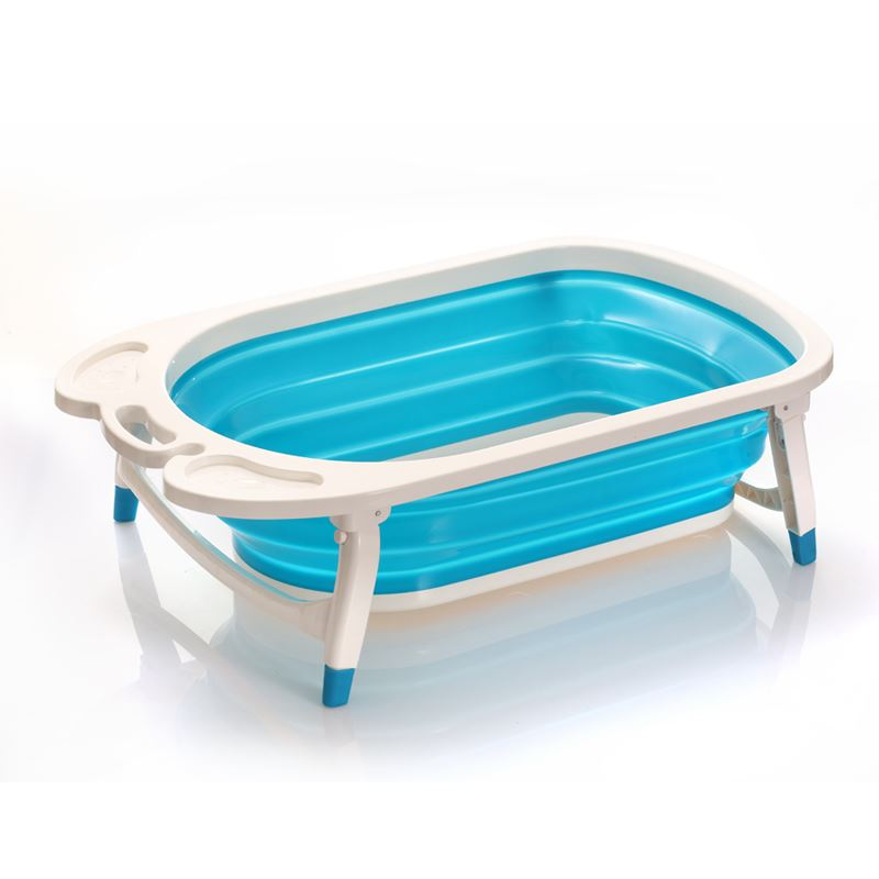 foldable baby bath tub sturdy can be folded to 8cm for easy storage blue ebay. Black Bedroom Furniture Sets. Home Design Ideas