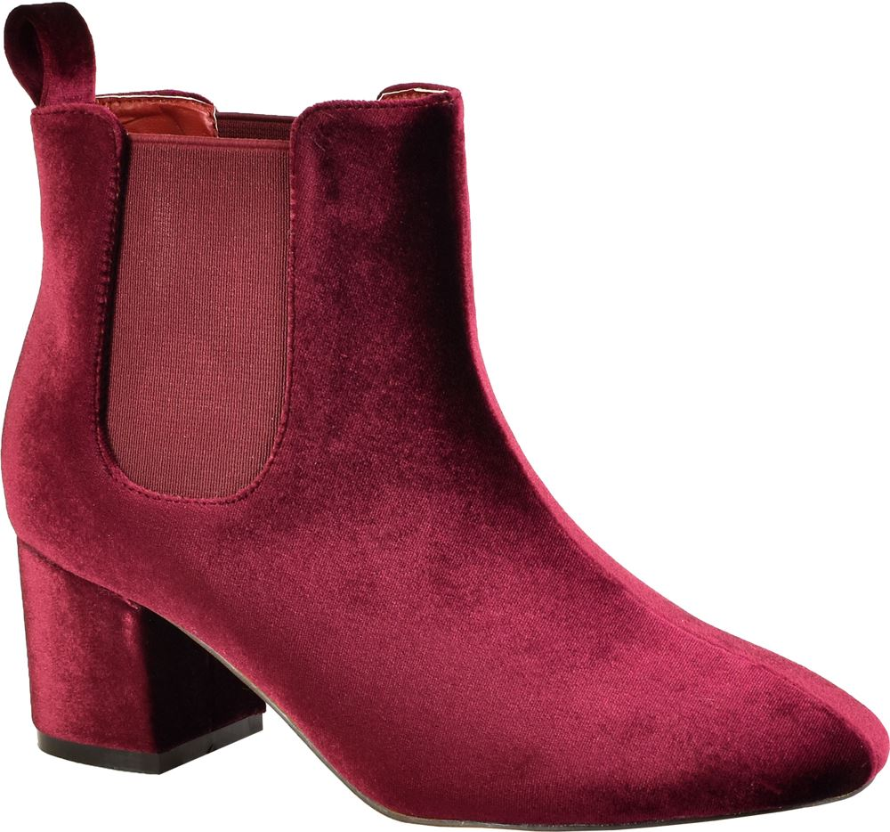 new womens low heel pull on winter chelsea ankle
