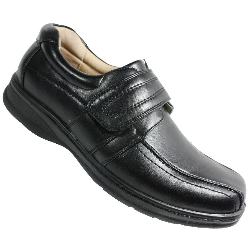 mens flat casual velcro comfort light weight formal shoes