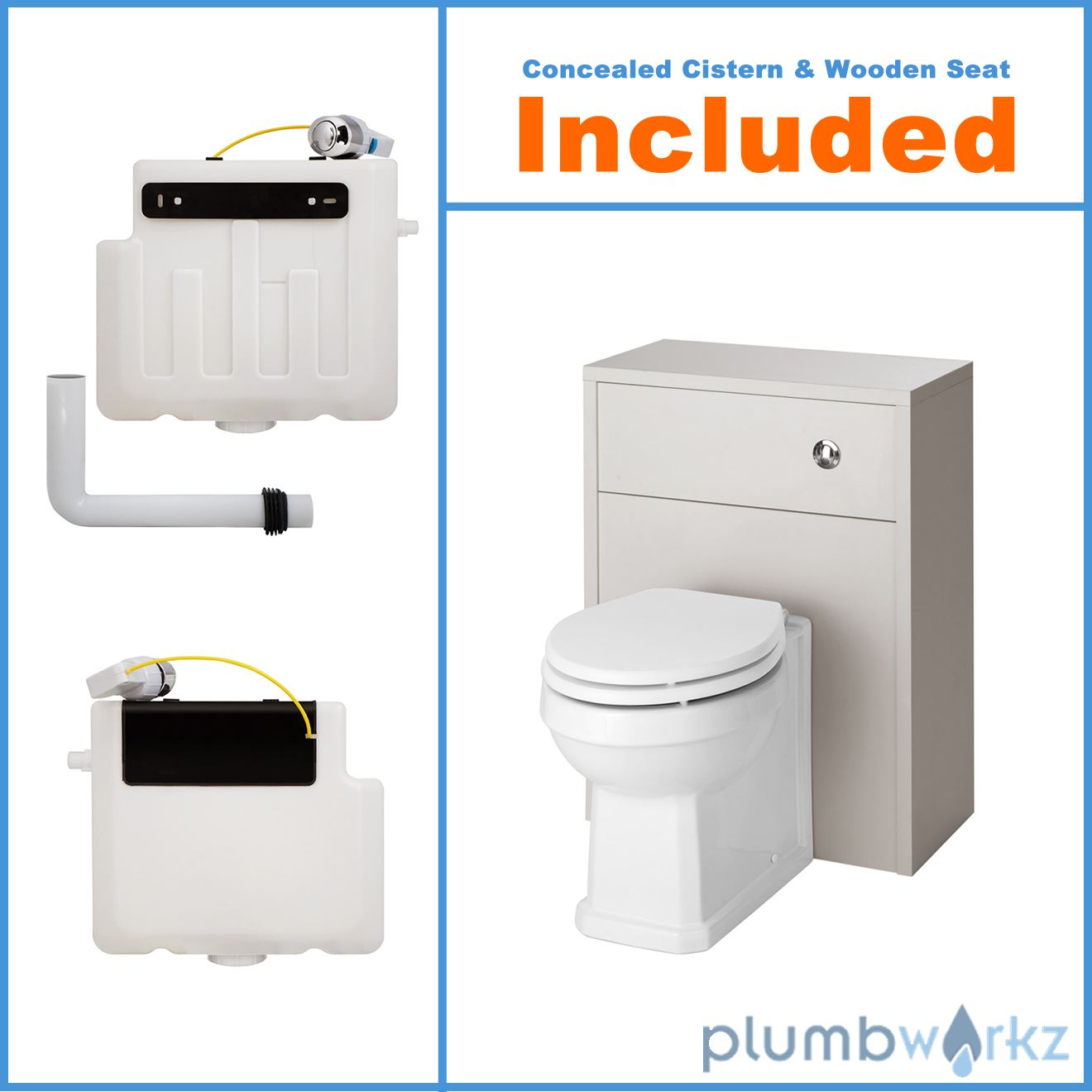 traditional back to wall btw wc pan toilet cabinet basin vanity unit ebay. Black Bedroom Furniture Sets. Home Design Ideas