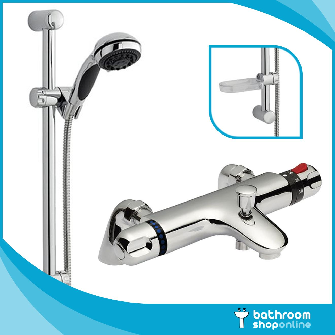 Thermostatic Bath Shower Mixer Deck Mounted Thermostatic Bath Shower Mixer Tap Deck Or Wall Mounted