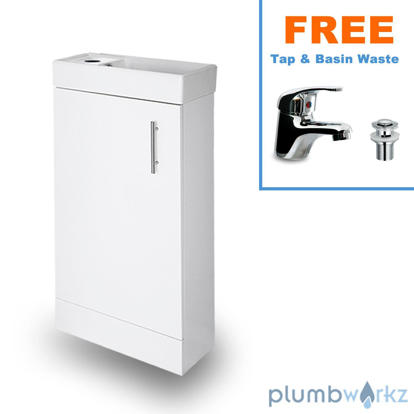 Compact Bathroom Vanity Unit Basin Sink Cloakroom Floor Wall Units With Tap Ebay