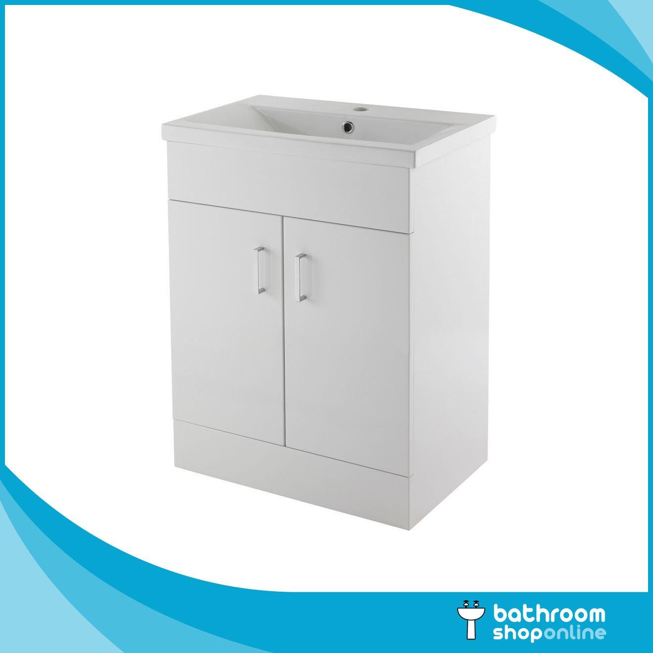Gloss white 600mm vanity unit close coupled toilet basin - White gloss bathroom vanity unit ...