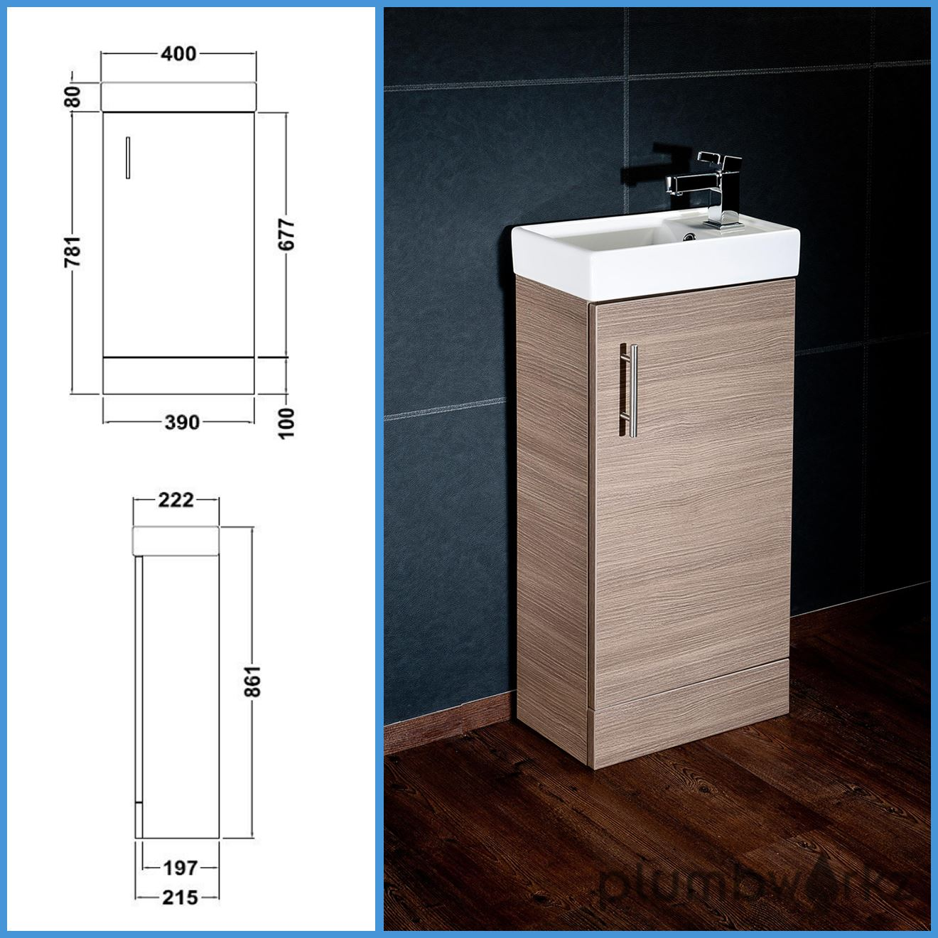 Compact Bathroom Vanity Unit amp Basin Sink Vanity. Compact Bathroom Vanity Unit  amp amp  Basin Sink Vanity 400mm Floor