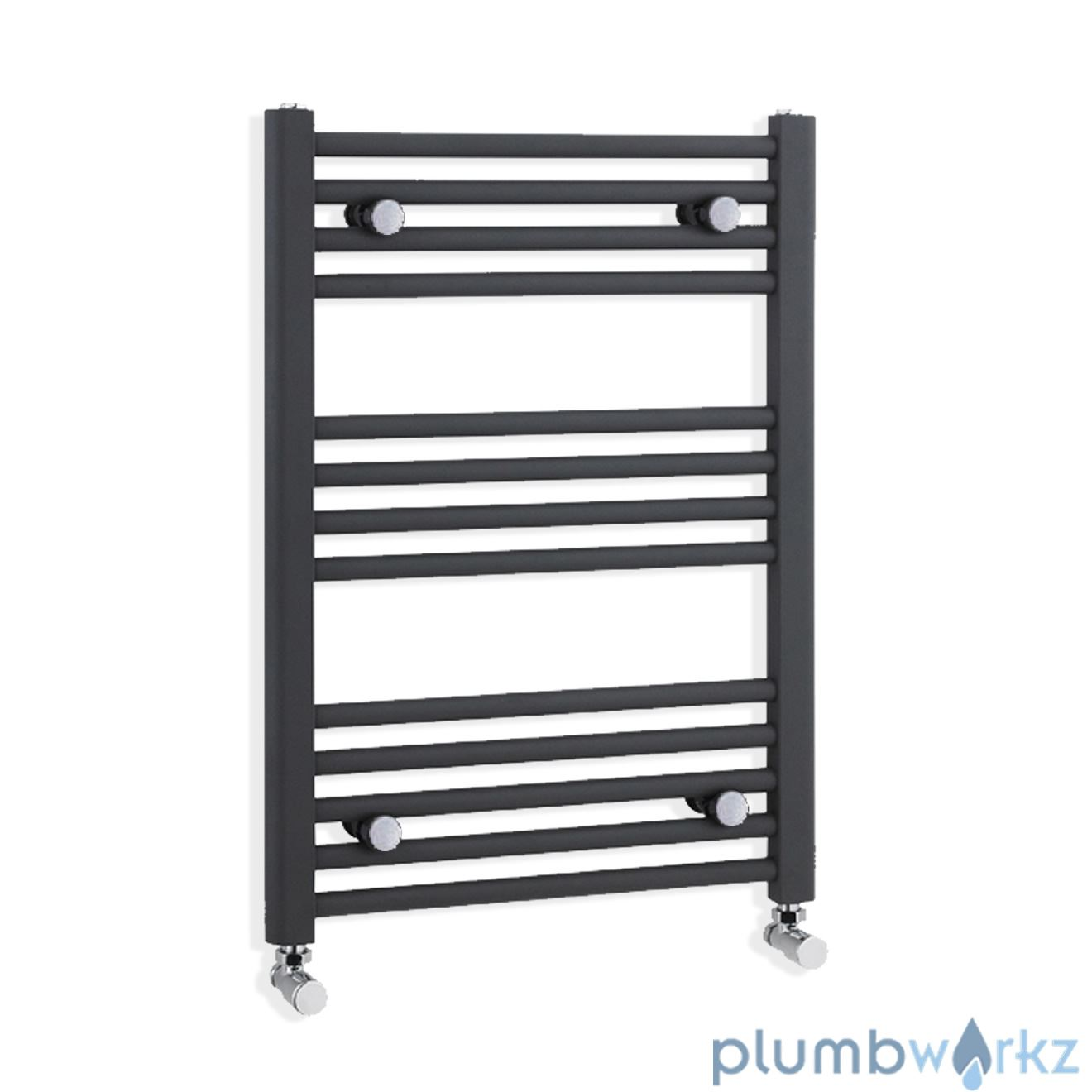 Heated Towel Rail, Towel Radiator Straight & Curved - All Sizes Anthracite