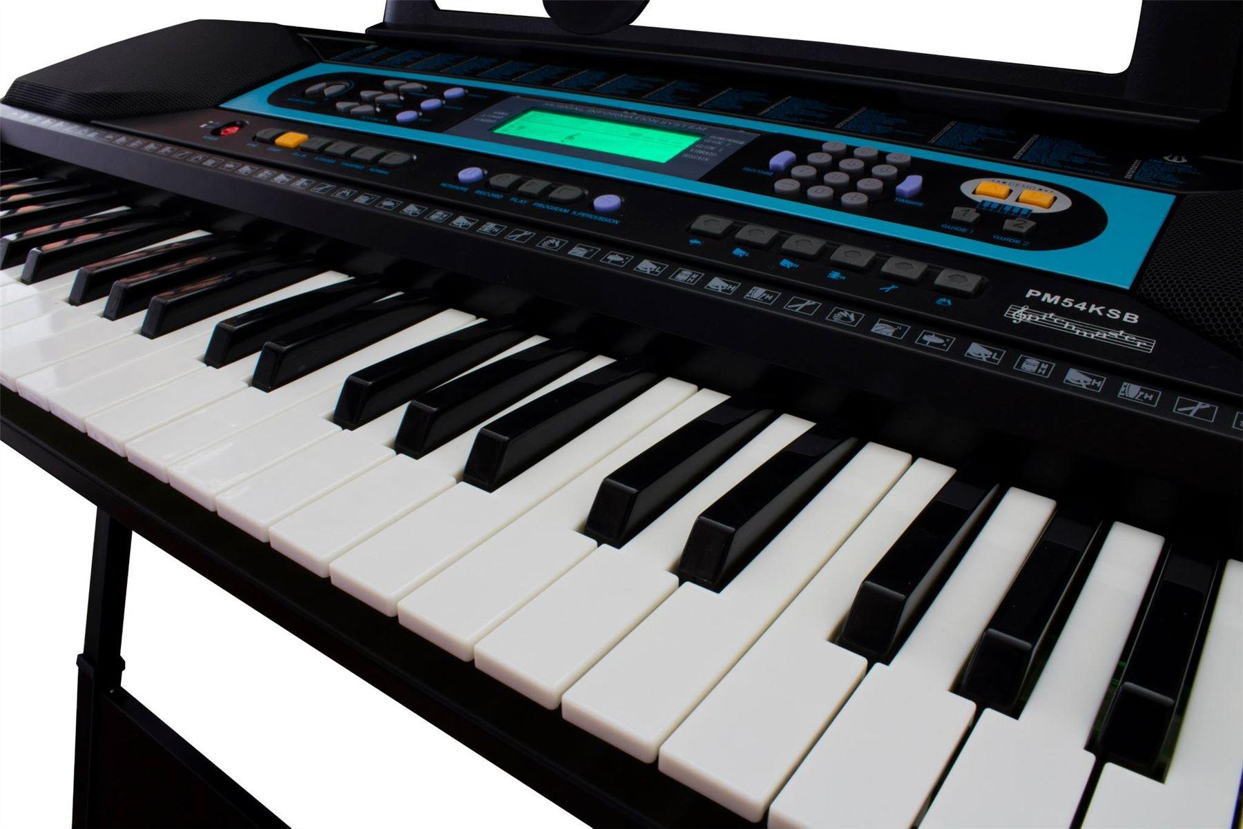 54 key digital interactive teaching portable keyboard piano workstation stand ebay. Black Bedroom Furniture Sets. Home Design Ideas