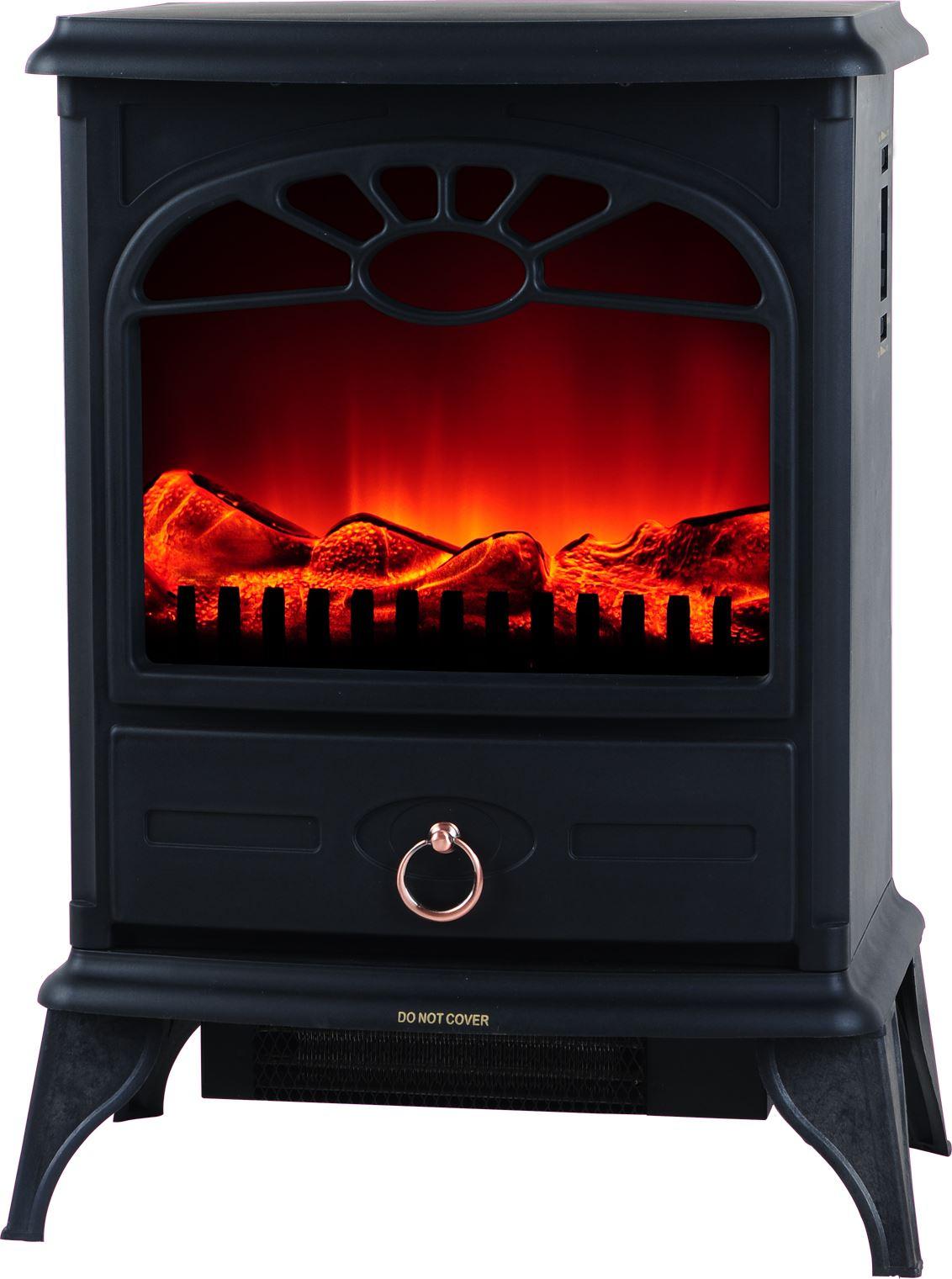 log burning flame effect electric log burner fan heater. Black Bedroom Furniture Sets. Home Design Ideas