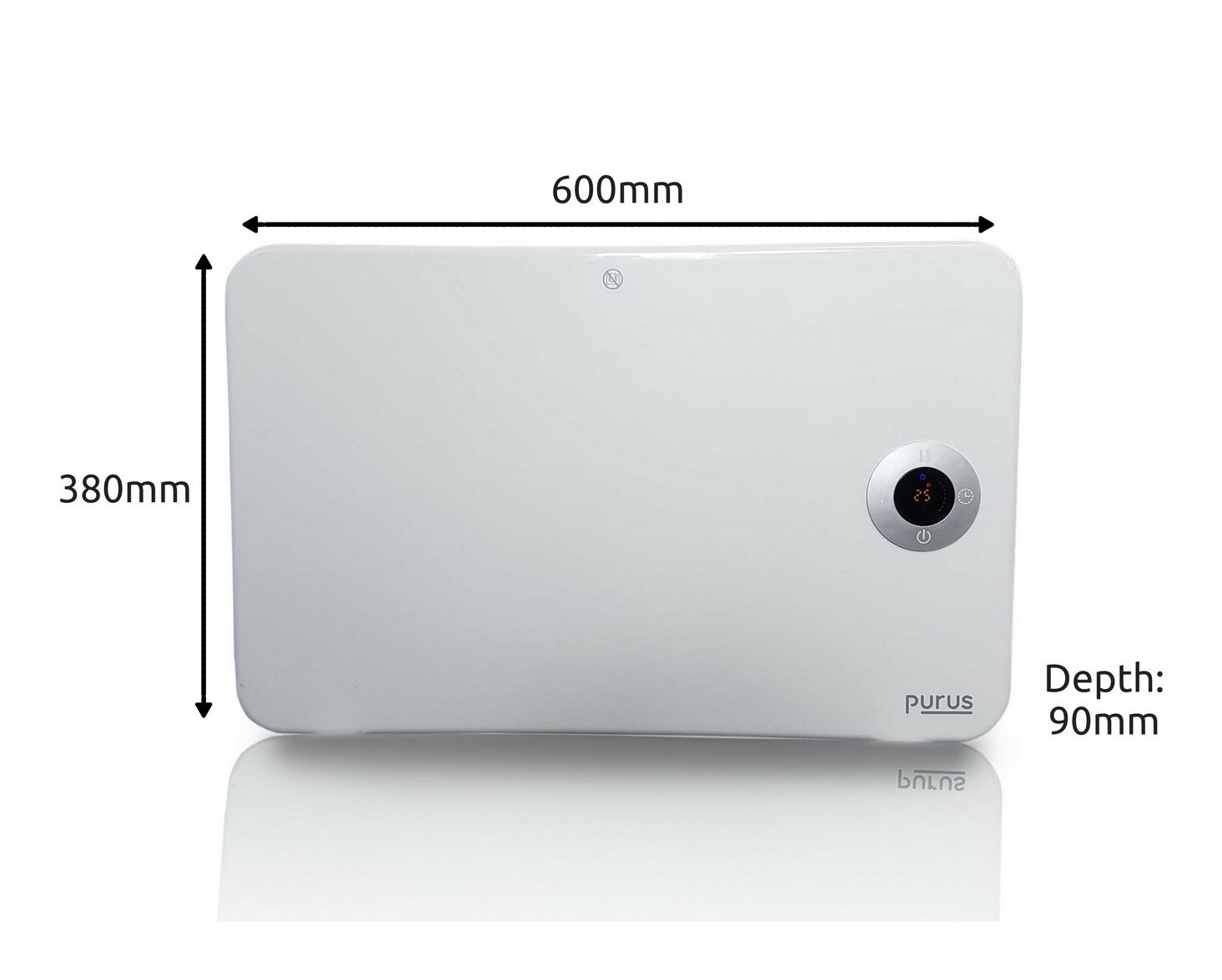 Wall Mount Heater With Thermostat : Kw bathroom electric wall mounted panel heater radiator