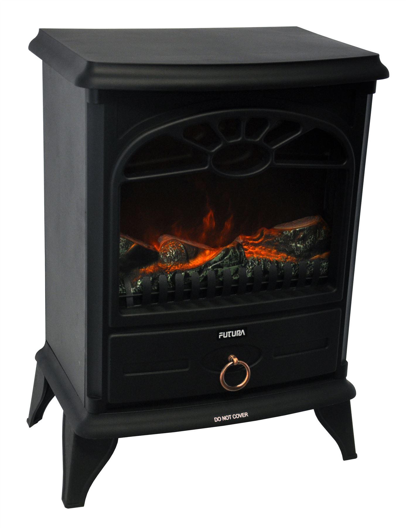 Log Burning Flame Effect Electric Log Burner Fan Heater Electric Stove Fireplace Ebay