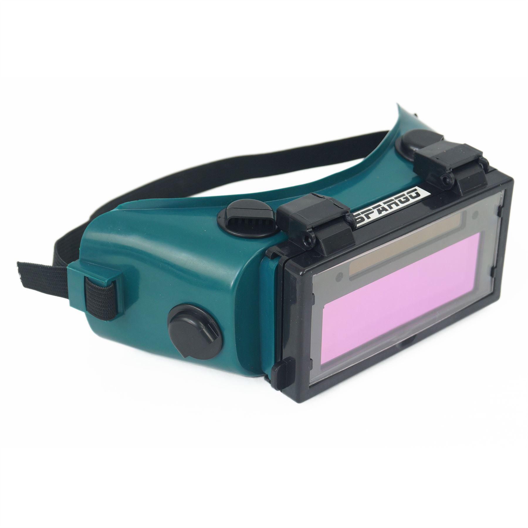 powered goggles  Spargo Auto Darkening LCD Welding Helmet Mask Goggles Solar ...
