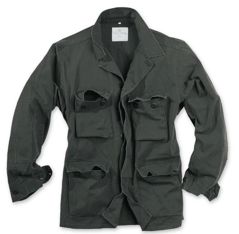 SURPLUS ARMY STYLE LIGHTWEIGHT BDU JACKET MENS COTTON MILITARY