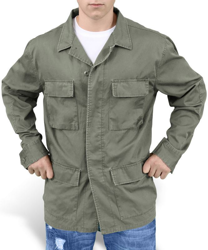 SURPLUS ARMY STYLE LIGHTWEIGHT BDU JACKET MENS COTTON MILITARY ...