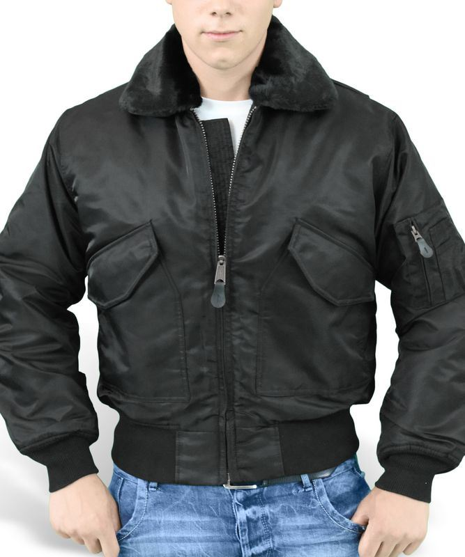 SURPLUS CWU MA2 FUR COLLAR FLIGHT JACKET US PILOT MENS BOMBER ...
