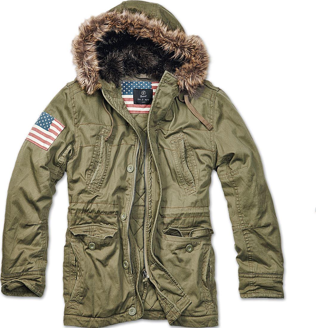 brandit vintage explorer stars stripes mens military parka warm winter jacket ebay. Black Bedroom Furniture Sets. Home Design Ideas