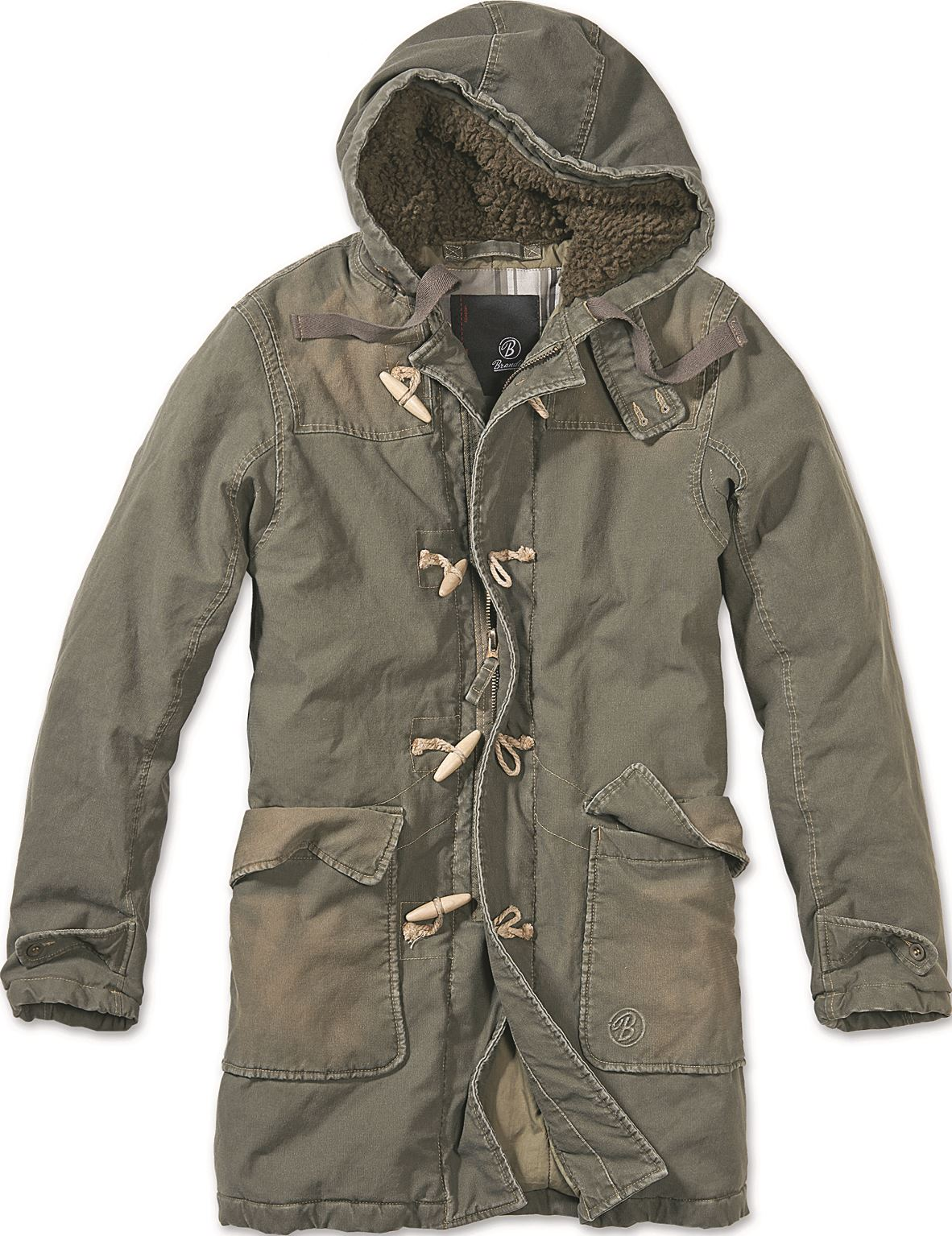 BRANDIT MENS WOODSON PARKA WARM WINTER MILITARY COAT HOODED ...