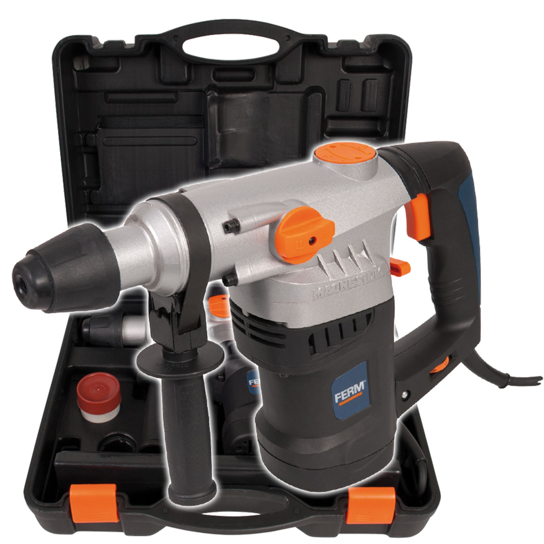 Electric 1500w Rotary Hammer SDS Drill Heavy Duty Case