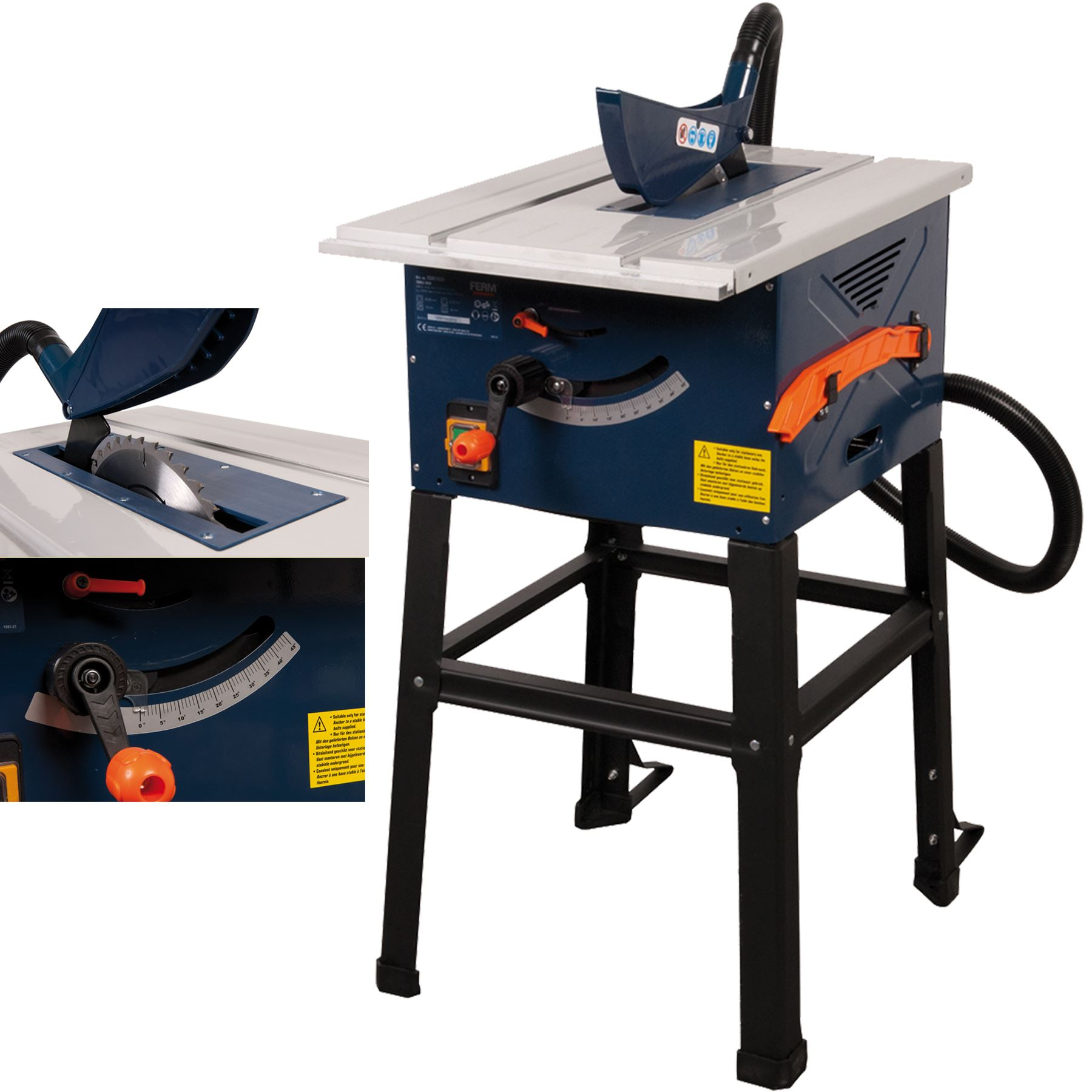 Ferm 1500w Electric Table Saw 250mm 10 Includes Stand Next Day Delivery Ebay