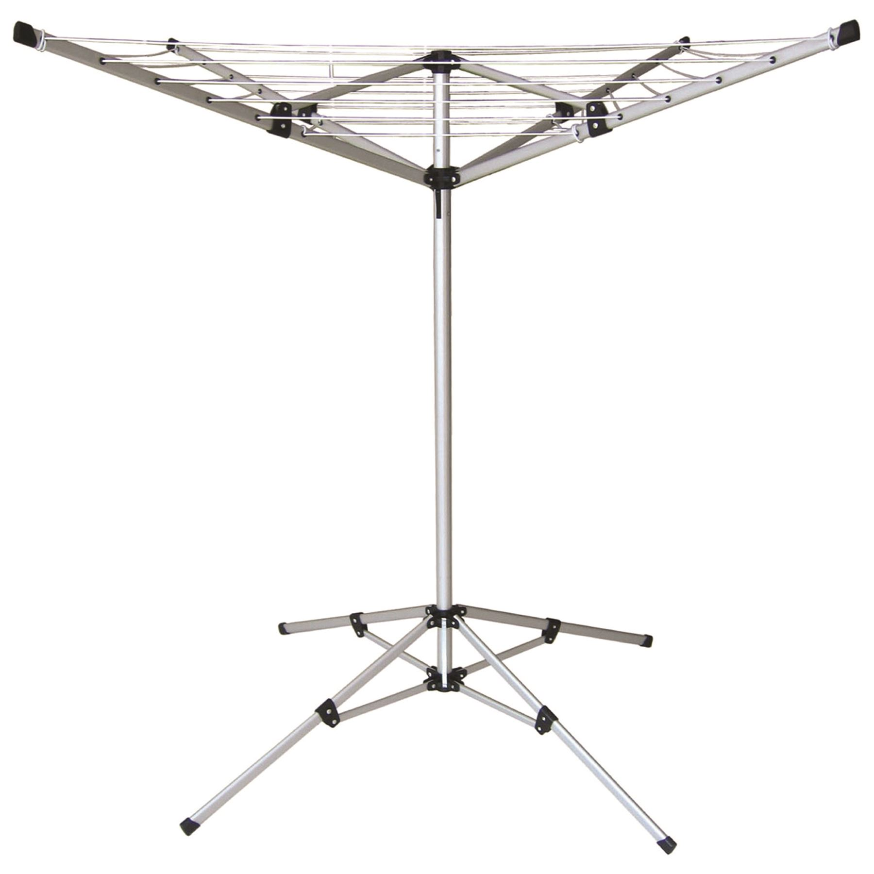 4 arm portable aluminium rotary airer clothes line camping. Black Bedroom Furniture Sets. Home Design Ideas