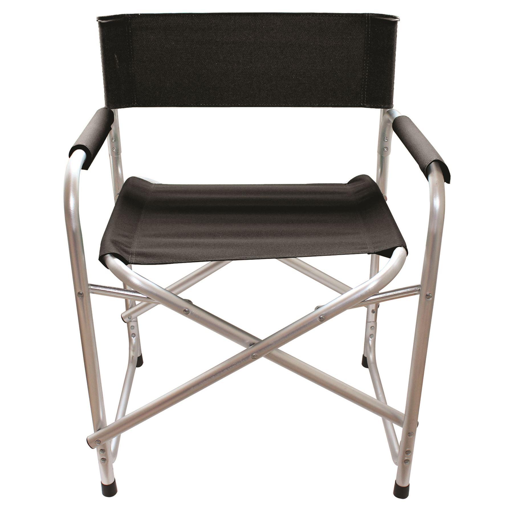Folding Directors Chair Aluminium Garden Camping Caravan