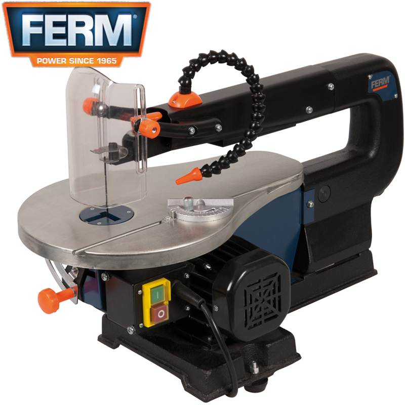 Ferm scroll saw fretsaw 16 400mm fret craft bandsaw table for Table th no scroll