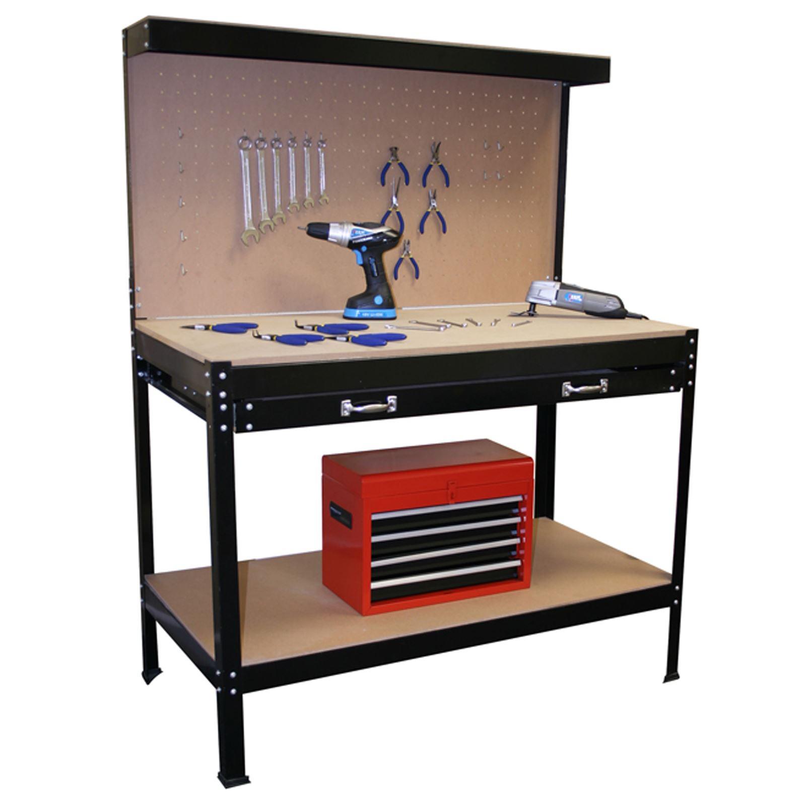 Workbench Garage Shop Station Work Bench Tool Box Pegboard