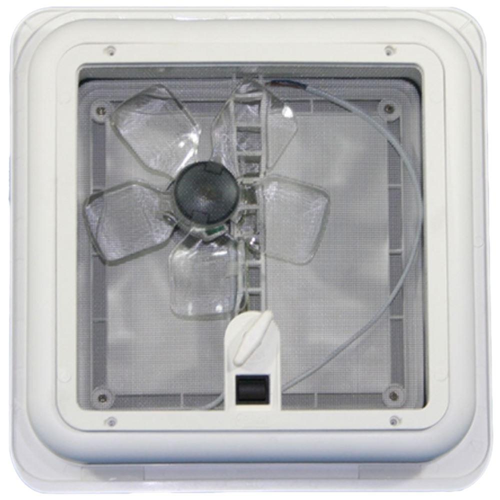 Picture Of Roof Ventilator Turbo : Fiamma roof vent turbo fan white sky light mm flynet