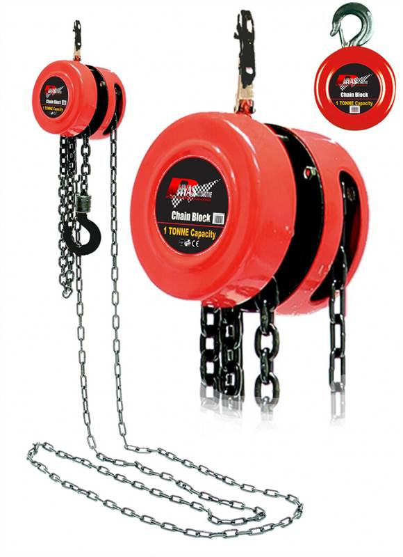 Rhyas 1 ton chain lifting block hoist tackle engine heavy for 1 4 ton chain motor
