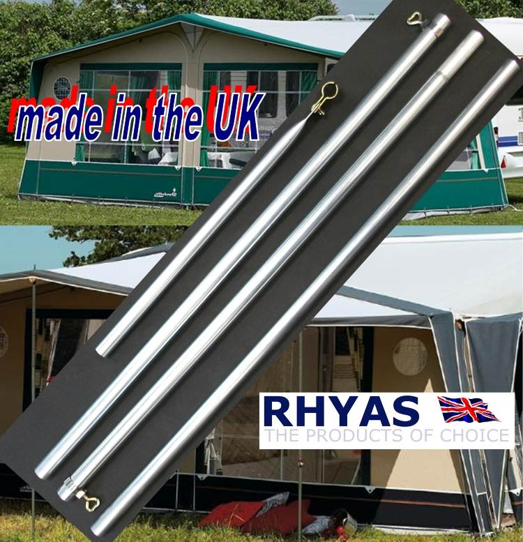 Towsure Caravan Awning Replacement Pole Poles Trailer ...