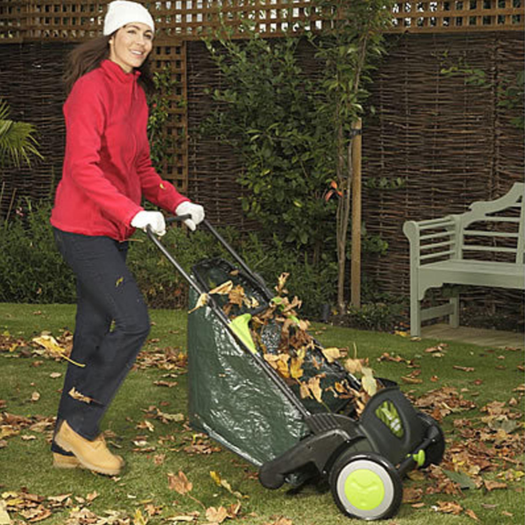 Rhyas Garden Leaf Sweeper Collector Eco Push Lawn Path ...