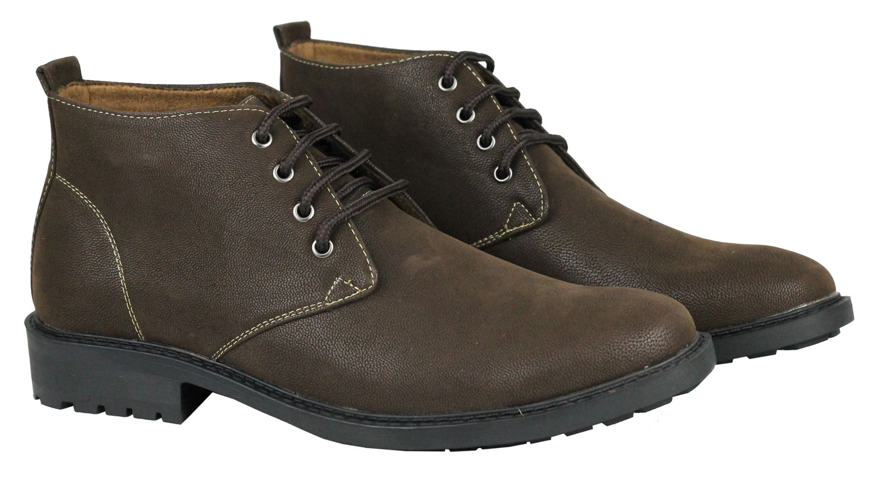 mens faux leather dessert chukka high top lace up boots ebay