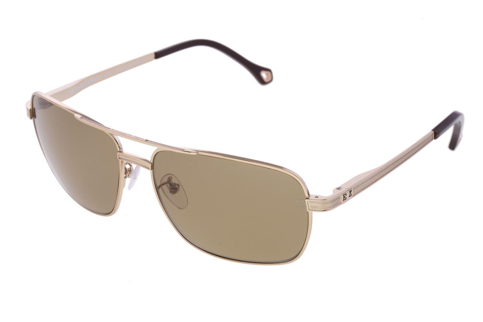 Mens Gold Frame Aviator Sunglasses : New E. ZEGNA SZ3281 8FFP Men Rectangle Gold Frame Aviator ...