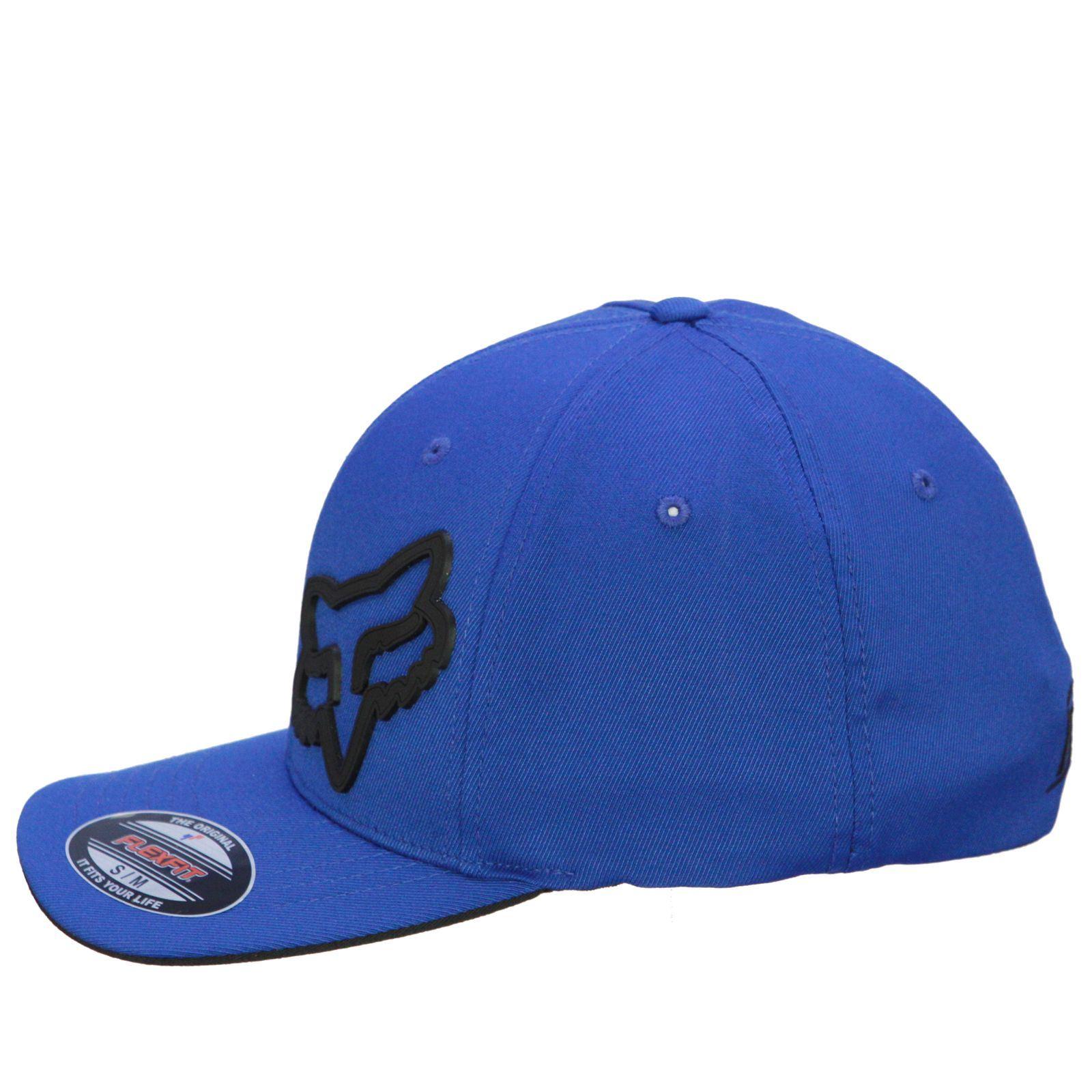 Fox-Medium-Curve-Flexfit-Cap-Signature-Blue