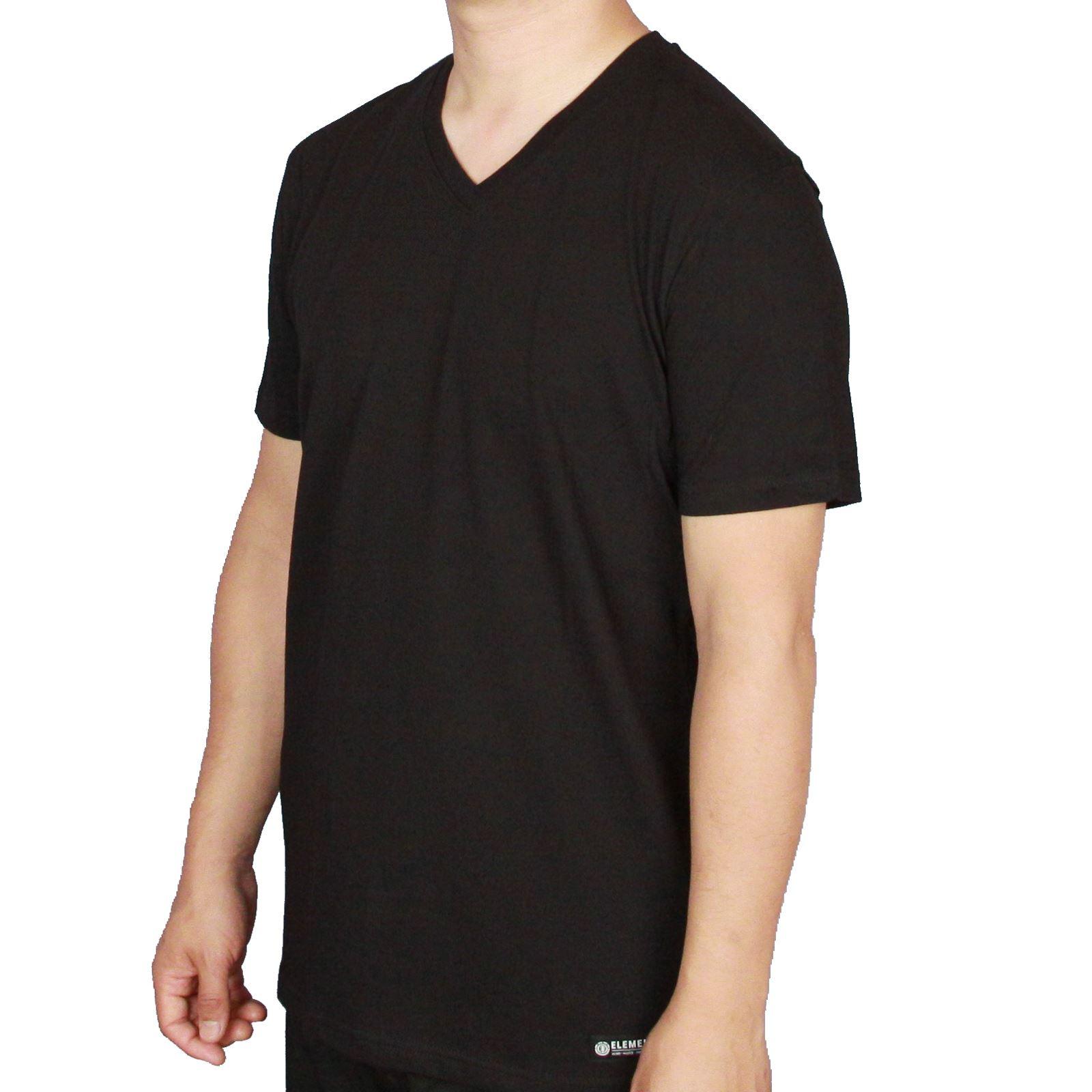 Black t shirts v neck - Element V Neck T Shirt Basic V Ss